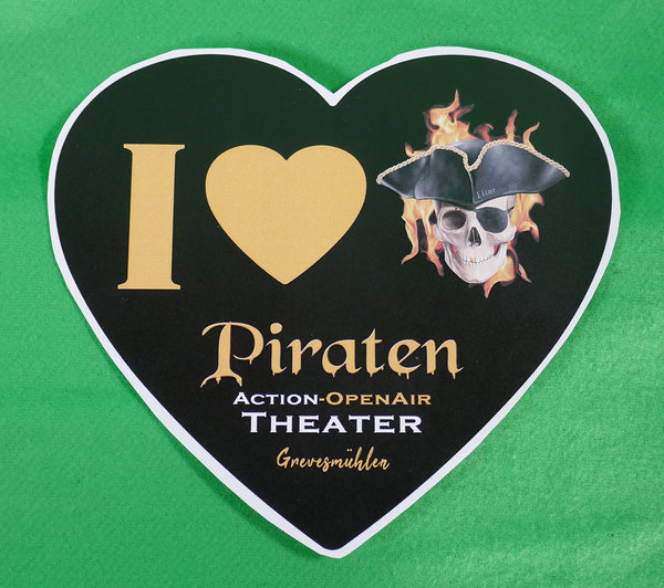 "Aufkleber ""I Love Piraten Open Air"""