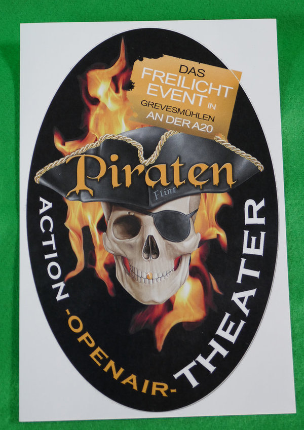 Aufkleber Piraten Open Air - Oval